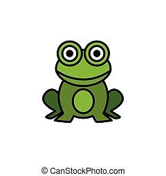 Frog. Filled color icon. Animal vector illustration - Frog. ...