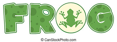 Frog Font Text - Frog On The Letter O In The Word FROG