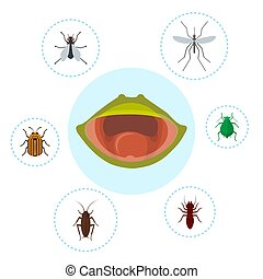 Frog food and nutrition of crocket, moscito, fly and bugs ...