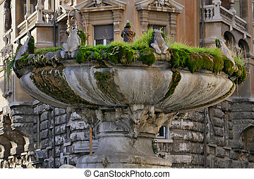 Frog Fountain in Rome