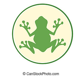 Frog Green Mascot