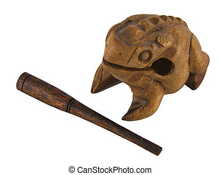 Frog Guiro dropped scraper - A traditional wooden frog...