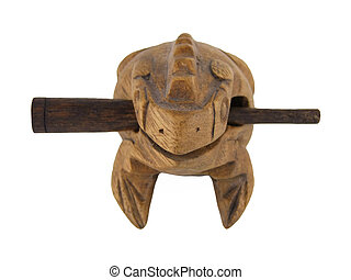Frog Guiro head on - A traditional wooden frog shaped Guiro...