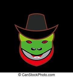Frog Head Cowboy Mascot Logo