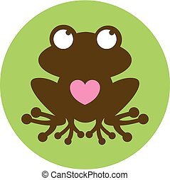 Frog Heart Silhouette
