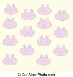 Frog icon collection. Vector cartoon Illustration.