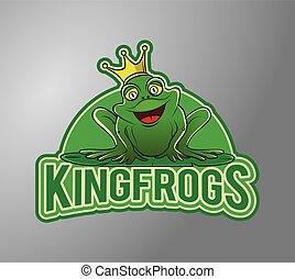 Frog Illustration design badge