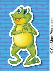Frog - Illustration of a close up frog