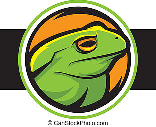 Frog - Illustration of a green frog mascot