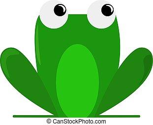 Frog, illustration, vector on white background.