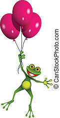 Frog in balloons