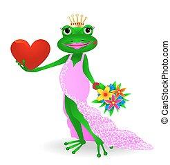 Frog in love.