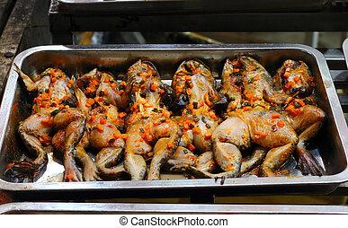 Frog in night market in Phu Quoc Island, in Vietnam