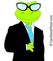 Frog in suit