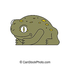 Frog isolated. Toad on white background. Vector illustration.