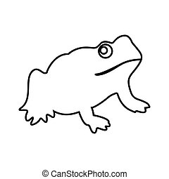 Frog it is black icon .