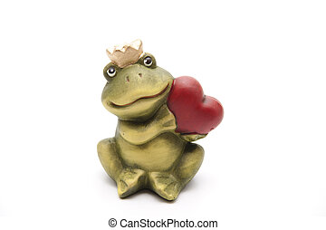 Frog king with heart
