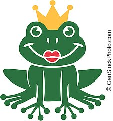 Frog king with kiss mouth