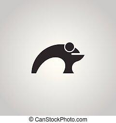 Frog logo design.