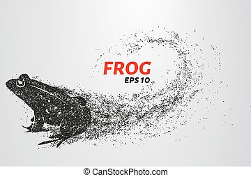 Frog of particles. The frog consists of small circles.