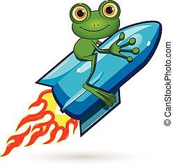 Frog on a Rocket
