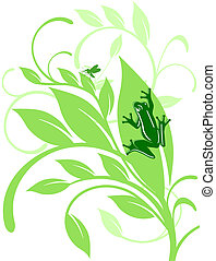 frog on sheet