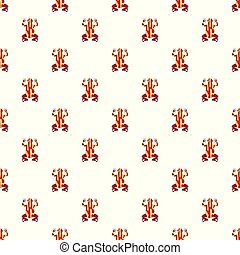 Frog pattern seamless vector