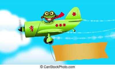 frog pilot 3 - merry green frog pilot in the plane sound...