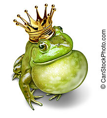 Frog Prince Communication - Frog prince with gold crown and...
