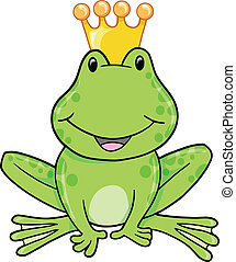 Frog Prince Vector Illustration
