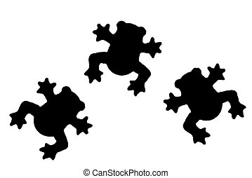 Frog shape silhouettes