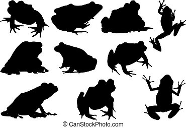 Frog Silhouette vector illustration