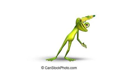 Frog - Animation frog draws green frame
