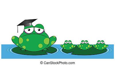 Frog teacher