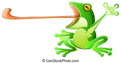 Frog Tongue Cartoon