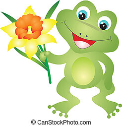 Frog vector - Frog isolated ob white background. Vector ...