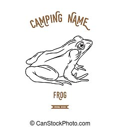 Frog vector illustration. European animals silhouettes...