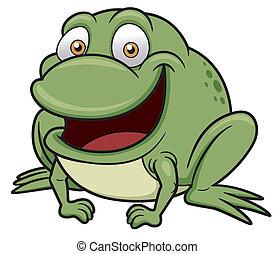 Frog - Vector illustration of frog cartoon