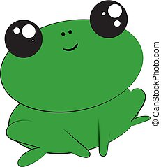 Frog, vector or color illustration. - A colour illustration...