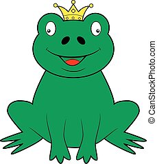 Frog wearing a crown