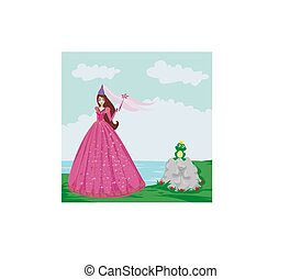Frog with a crown And fairy