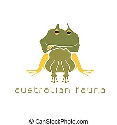 frog with head in form of australian map