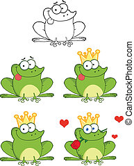 Frog With Tongue Out Collection