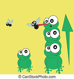 frogs as a team
