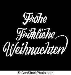 frohe, fröhliche, weihnachten, letras, en, alemán