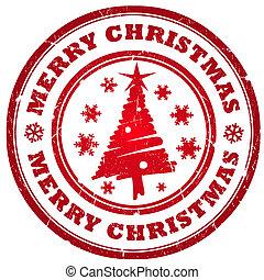 frohe weihnacht, briefmarke