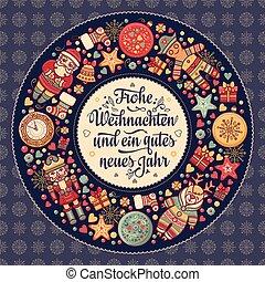 frohe, weihnacht., navidad, felicitaciones, en, alemania
