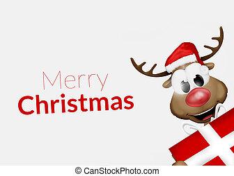 frohe weihnacht, rentier