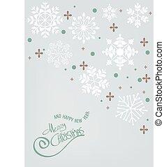 frohe weihnacht, schneeflocke, hintergrund