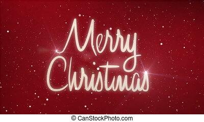 frohe weihnacht, text, mit, schnee, und